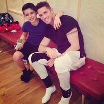 Lucas with Blake McGrath 2014-01-14