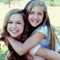Talia and Kayla for national siblngs day 2015 rastered
