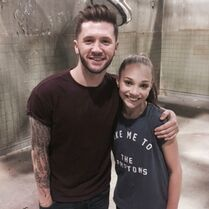 Travis Wall and Maddie Ziegler - rehearsal for Pretty Little Liars - 3May2015