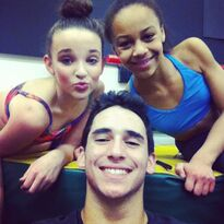 Kendall and Nia with Kevin 2013-02-27