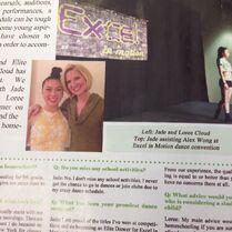 Jade Cloud and Loree Cloud Dance Magazine October2014 Loree-gram