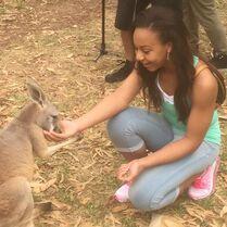 Nia with kangaroo 2015