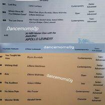 721 Comp Schedule