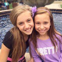 Caylie with Kayla - MDP - summer 2015