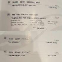 710 Comp schedule