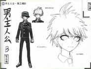 Art Book Scan Danganronpa V3 Character Designs Betas Shuichi Saihara (3)