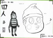 Art Book Scan Danganronpa V3 Character Designs Betas Ryoma Hoshi (2)