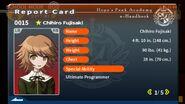 Chihiro Fujisaki Report Card Page 1