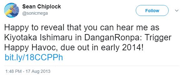 File:Danganronpa 1 Sean Chiplock Kiyotaka Ishimaru VA Tweet.png