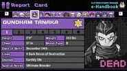 Gundham Tanaka's Report Card (Deceased)