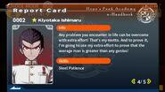 Kiyotaka Ishimaru Report Card Page 4