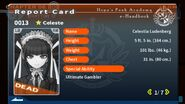 Celestia Ludenberg's Report Card (Deceased)
