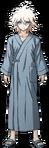Nagito Komaeda Fullbody Sprite (Hospital Gown) (1)