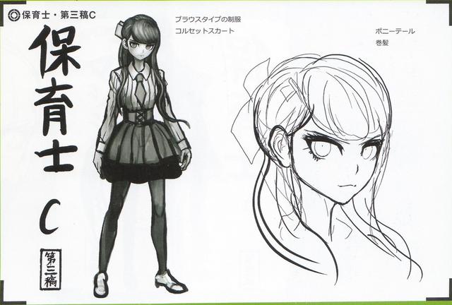 File:Art Book Scan Danganronpa V3 Character Designs Betas Maki Harukawa (5).png