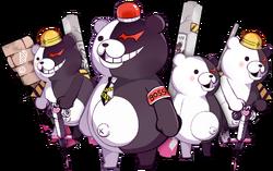 Girls Gun 2 x Danganronpa Game Monokuma Enemies