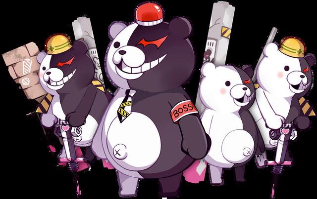 File:Girls Gun 2 x Danganronpa Game Monokuma Enemies.png