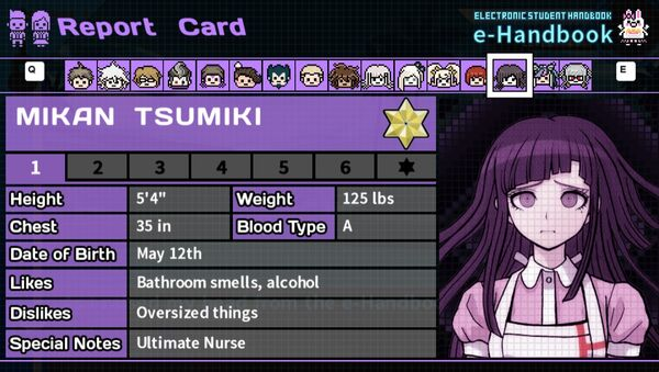Mikan Tsumiki's Report Card Page 1