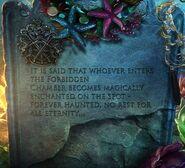Forbidden chamber warning
