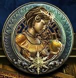 Snow white menu medal