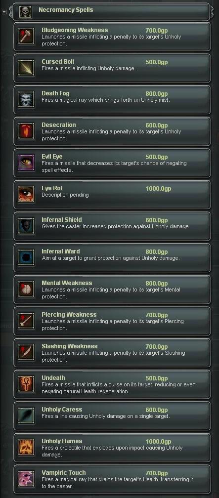 Necromancy-spells
