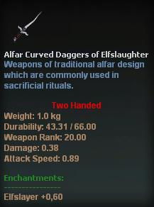 Alfar Curved Daggers of Elfslaughter