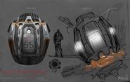 EOS Escape Pod concept art