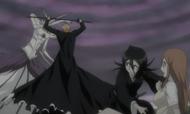 Rukia protects Orihime