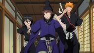 Rukia, Shu, and Ichigo