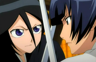 Soifon clashes with Rukia