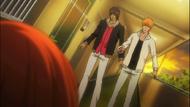 Sado and Ichigo rush to Orihime's Side
