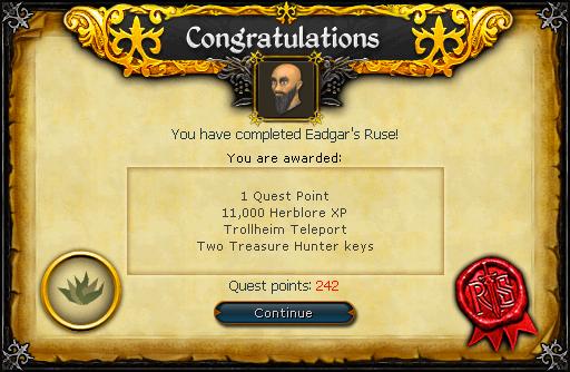 Eadgar's Ruse reward
