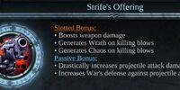 Strife's Offering