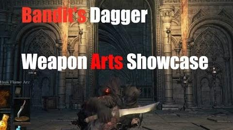 Dark Souls 3 Bandit Dagger - Weapon Arts Showcase
