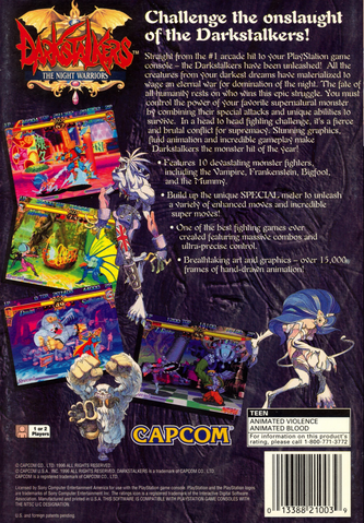 File:Darkstalkers The Night Warriors Ps1 Back.png