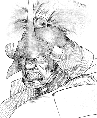 File:Darkstalkers 3 Bishamon Sketch.png