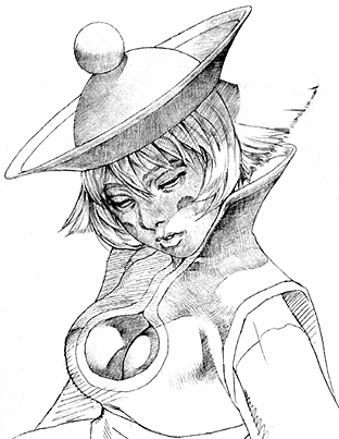 File:Darkstalkers 3 Hsien-Ko Sketch.png