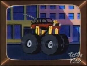 The Quiverwing Quack - Negaduck's monster truck
