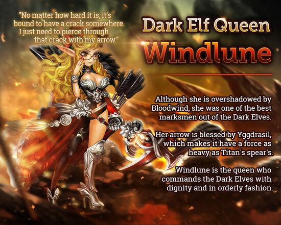 Dark Elf Queen Windlune release poster