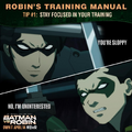 Batman vs. Robin Robin's training manual tip 1.png