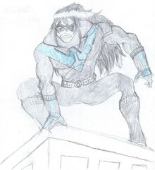 Batman VS Robin - Nightwing Cover