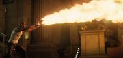 El Diablo shoots fire from his hands