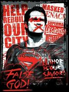 Batman v Superman Dawn of Justice - anti-Superman poster
