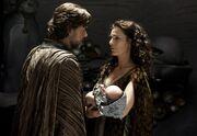 Jor-El and Lara farewell their son