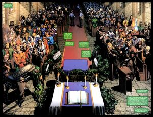 Sue Dibny's Funeral