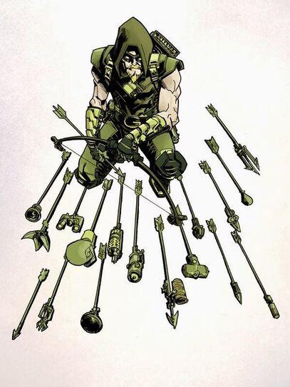 Green arrow trick arrows