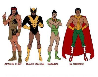 Apache-Chief-Black-Vulcan-Samurai-El-Dorado-Superfriends