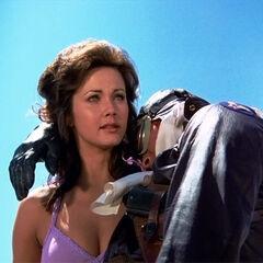 Diana finds Steve Trevor on Paradise Island.