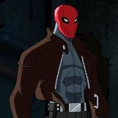 Jason as the Red Hood.
