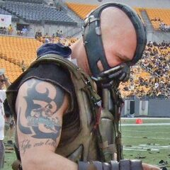 Tom Hardy as Bane.