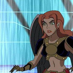 A disgraced Shayera is freed by Wonder Woman.